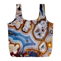 Honey Comb Agate Gold Full Print Recycle Bags (l)