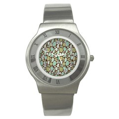 Leaf Camo Color Flower Floral Stainless Steel Watch by Alisyart