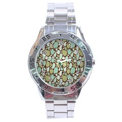 Leaf Camo Color Flower Floral Stainless Steel Analogue Watch
