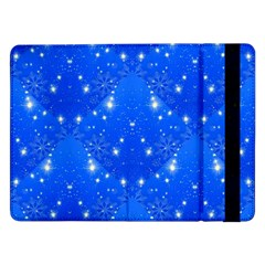 Background For Scrapbooking Or Other With Snowflakes Patterns Samsung Galaxy Tab Pro 12 2  Flip Case by Nexatart