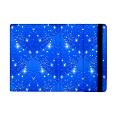 Background For Scrapbooking Or Other With Snowflakes Patterns Ipad Mini 2 Flip Cases by Nexatart
