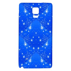 Background For Scrapbooking Or Other With Snowflakes Patterns Galaxy Note 4 Back Case by Nexatart