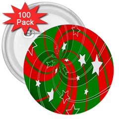 Background Abstract Christmas 3  Buttons (100 Pack)  by Nexatart