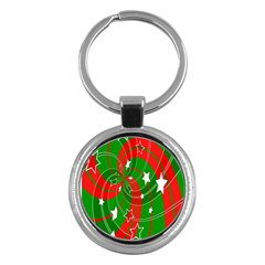 Background Abstract Christmas Key Chains (round)  by Nexatart