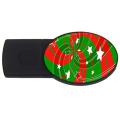 Background Abstract Christmas Usb Flash Drive Oval (2 Gb) by Nexatart