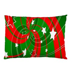 Background Abstract Christmas Pillow Case