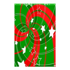Background Abstract Christmas Shower Curtain 48  X 72  (small)  by Nexatart