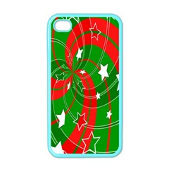 Background Abstract Christmas Apple Iphone 4 Case (color) by Nexatart
