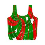 Background Abstract Christmas Full Print Recycle Bags (M)  Back