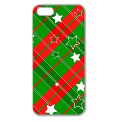Background Abstract Christmas Apple Seamless Iphone 5 Case (clear)