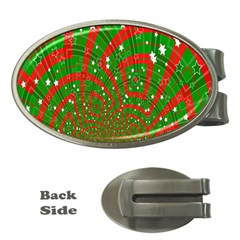 Background Abstract Christmas Pattern Money Clips (oval)  by Nexatart