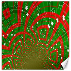 Background Abstract Christmas Pattern Canvas 16  X 16   by Nexatart
