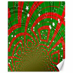 Background Abstract Christmas Pattern Canvas 11  X 14