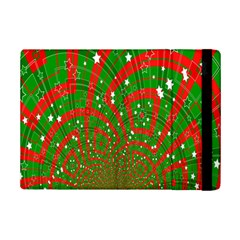 Background Abstract Christmas Pattern Ipad Mini 2 Flip Cases by Nexatart