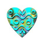 Background Braid Fantasy Blue Heart Magnet Front