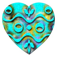 Background Braid Fantasy Blue Jigsaw Puzzle (heart)