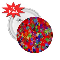 Background Celebration Christmas 2 25  Buttons (10 Pack)  by Nexatart
