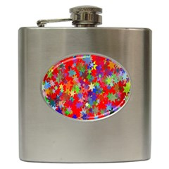 Background Celebration Christmas Hip Flask (6 Oz)