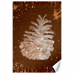 Background Christmas Tree Christmas Canvas 12  X 18