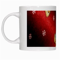 Background Fabric White Mugs