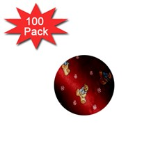 Background Fabric 1  Mini Buttons (100 Pack)