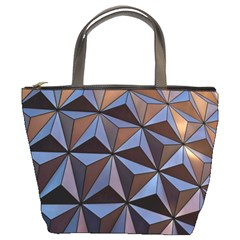 Background Geometric Shapes Bucket Bags by Nexatart