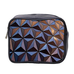 Background Geometric Shapes Mini Toiletries Bag 2 Side by Nexatart