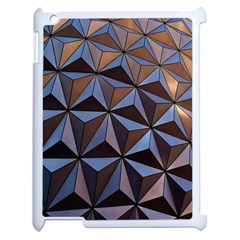 Background Geometric Shapes Apple Ipad 2 Case (white) by Nexatart