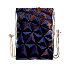 Background Geometric Shapes Drawstring Bag (small) by Nexatart