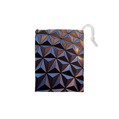 Background Geometric Shapes Drawstring Pouches (xs)  by Nexatart