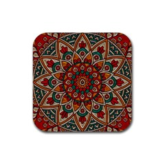 Background Metallizer Pattern Art Rubber Coaster (square)