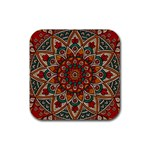 Background Metallizer Pattern Art Rubber Coaster (Square)  Front