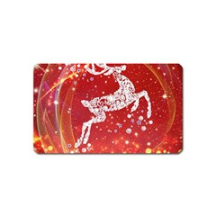 Background Reindeer Christmas Magnet (name Card)