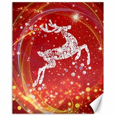 Background Reindeer Christmas Canvas 16  X 20   by Nexatart