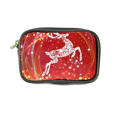 Background Reindeer Christmas Coin Purse by Nexatart