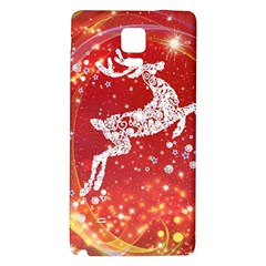 Background Reindeer Christmas Galaxy Note 4 Back Case by Nexatart