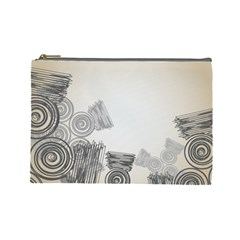 Background Retro Abstract Pattern Cosmetic Bag (large)