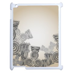 Background Retro Abstract Pattern Apple Ipad 2 Case (white) by Nexatart