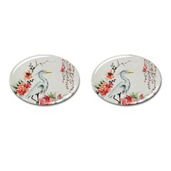 Background Scrapbook Paper Asian Cufflinks (oval)