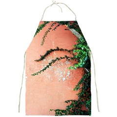 Background Stone Wall Pink Tree Full Print Aprons by Nexatart