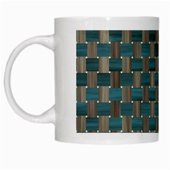 Background Vert White Mugs