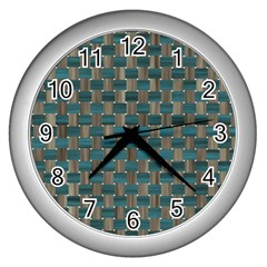 Background Vert Wall Clocks (silver)  by Nexatart