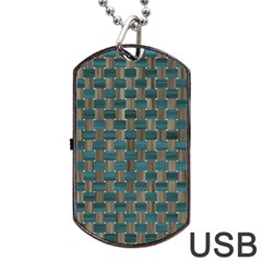 Background Vert Dog Tag Usb Flash (two Sides)