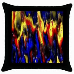 Banner Header Plasma Fractal Throw Pillow Case (black) by Nexatart