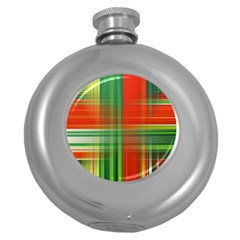 Background Texture Structure Green Round Hip Flask (5 Oz) by Nexatart
