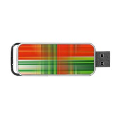 Background Texture Structure Green Portable Usb Flash (two Sides)