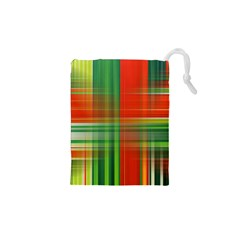 Background Texture Structure Green Drawstring Pouches (xs)  by Nexatart