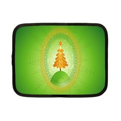 Beautiful Christmas Tree Design Netbook Case (small)  by Nexatart