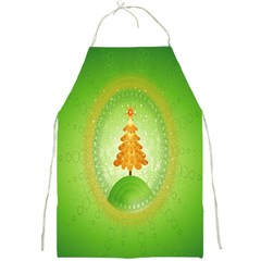 Beautiful Christmas Tree Design Full Print Aprons by Nexatart