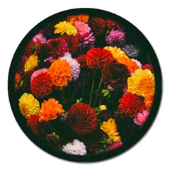 Beautifull Flowers Magnet 5  (round) by Nexatart